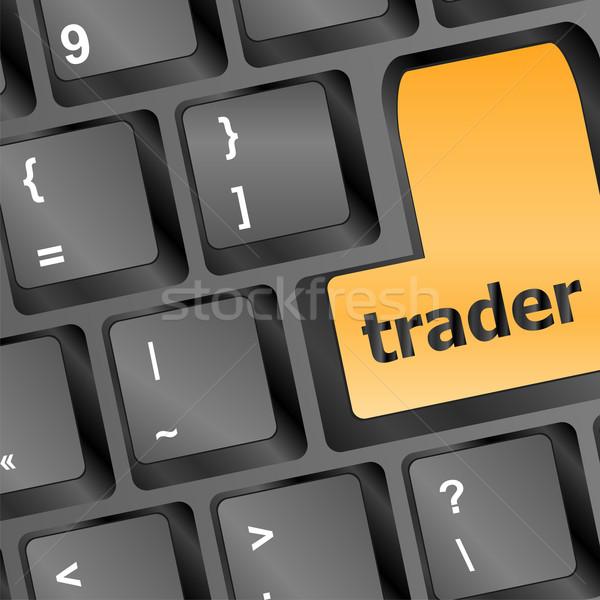 Commerciante tastiera mercato strategia business computer Foto d'archivio © fotoscool
