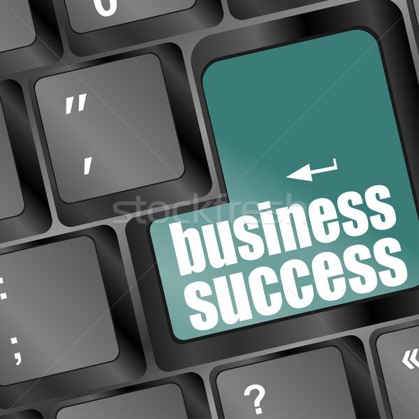 üzlet siker szó gomb kulcs mutat Stock fotó © fotoscool