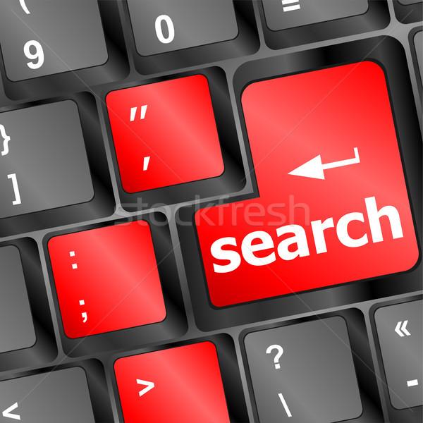 Internet Zoek knop abstract wereld Stockfoto © fotoscool