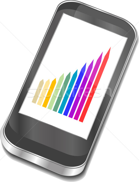 smart phone with graphic picture Stock photo © fotoscool