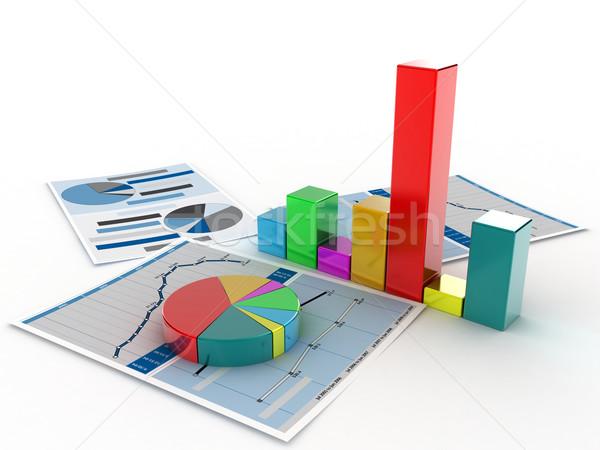 бизнеса знак синий Финансы рынке успех Сток-фото © FotoVika