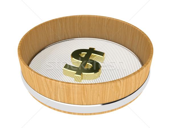 Illustratie geld witte teken financieren bank Stockfoto © FotoVika