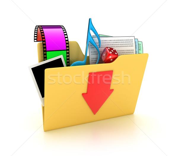 The folder Stock photo © FotoVika