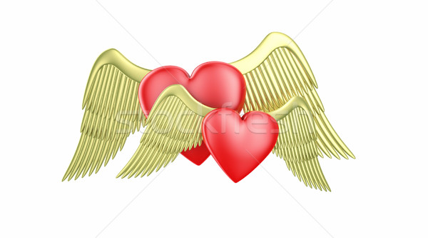 Hearts with wings Stock photo © FotoVika
