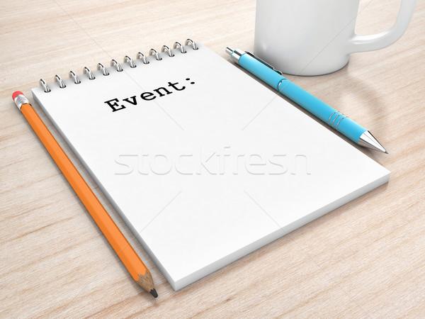 Notepad tabel pen boek hout Stockfoto © FotoVika