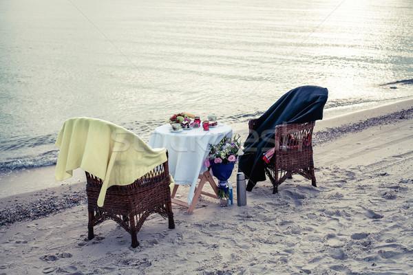 Table on seacoast Stock photo © FotoVika