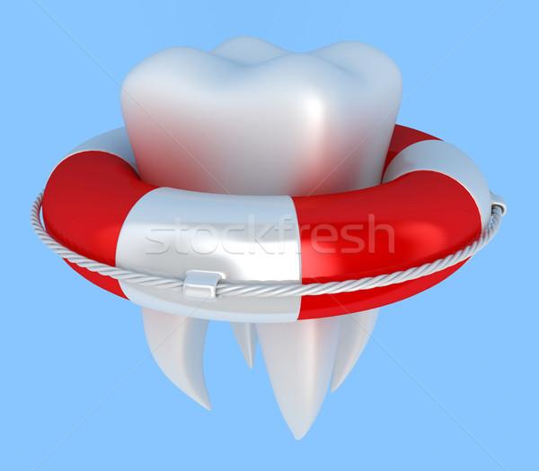 Tooth with lifebuoy Stock photo © FotoVika