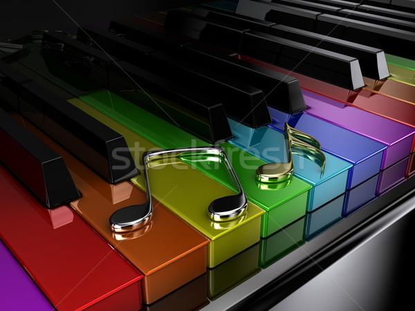 The rainbow piano Stock photo © FotoVika