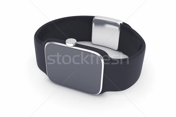 Dijital akıllı izlemek 3d illustration siyah renk Stok fotoğraf © FotoVika