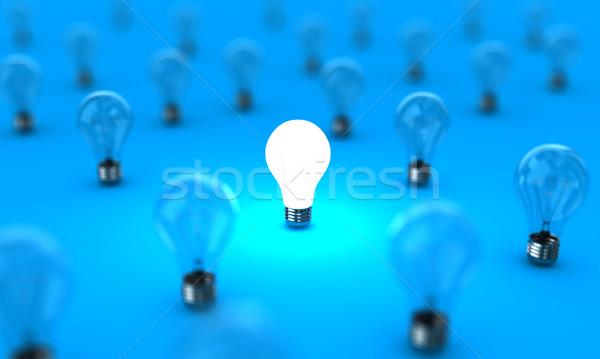 Lampade molti uno splendente blu luce Foto d'archivio © FotoVika