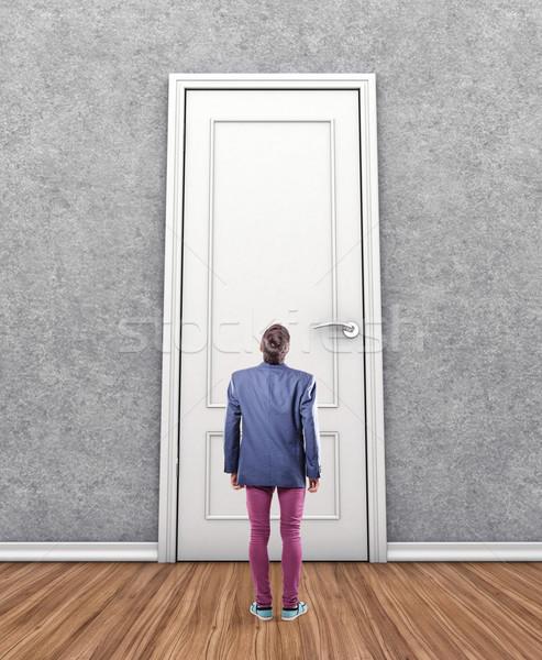 человека двери большой страхом неизвестный помочь Сток-фото © FotoVika