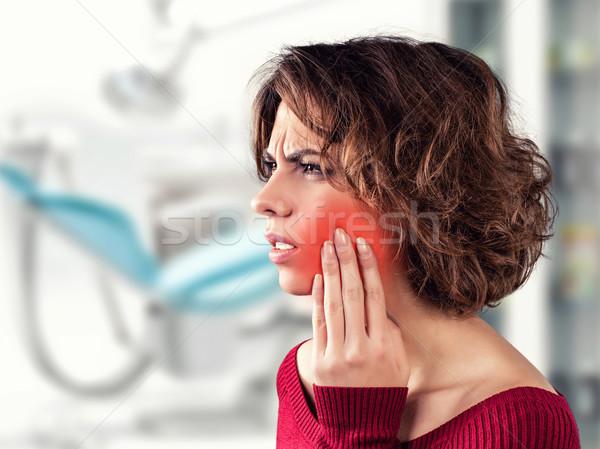 Ragazza dolente dente medici ufficio ospedale Foto d'archivio © FotoVika