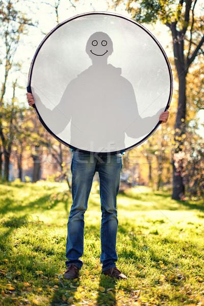 Boy with reflector Stock photo © FotoVika