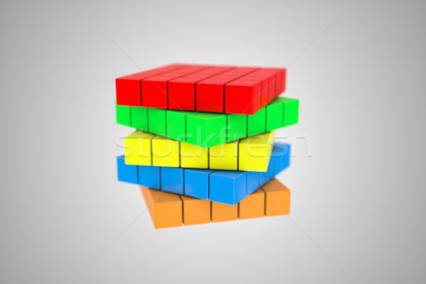 Cubo ilustração multicolorido difícil caixa Foto stock © FotoVika