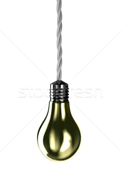 Lampada illustrazione fissato luce help oro Foto d'archivio © FotoVika