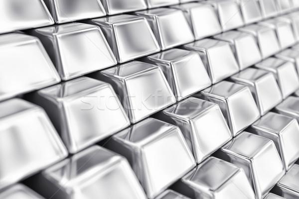 Zilver illustratie veel markt baksteen financiële Stockfoto © FotoVika