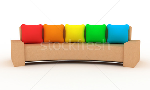 The sofa Stock photo © FotoVika