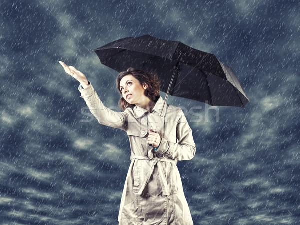 Girl with umbrella Stock photo © FotoVika