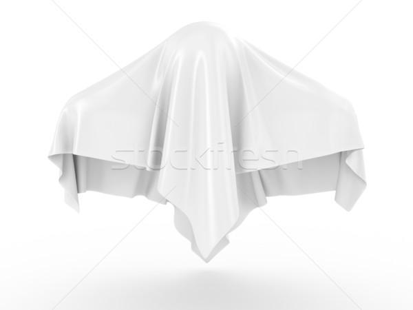 Fantasma coperto grigio corpo segno divertimento Foto d'archivio © FotoVika