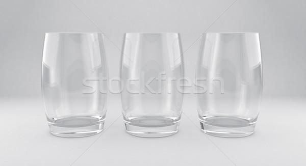 3d illusztráció terv üveg háttér koktél csésze Stock fotó © FotoVika
