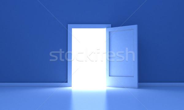 двери открытых дверей темно комнату свет за пределами Сток-фото © FotoVika