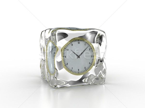 Frozen clock Stock photo © FotoVika