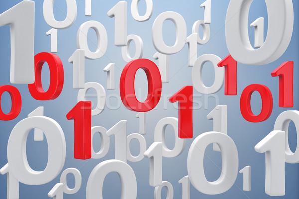 двоичный код иллюстрация воздуха знак веб красный Сток-фото © FotoVika