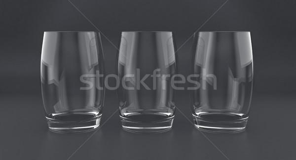 3D illustration of tumblers Stock photo © FotoVika