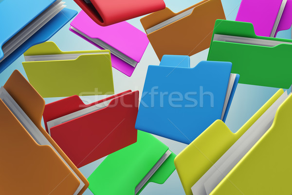 Colour folders Stock photo © FotoVika