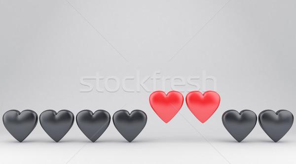 сердцах иллюстрация два многие другой счастливым Сток-фото © FotoVika