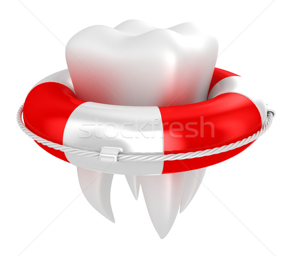 Tooth with lifebuoy Stock photo © FotoVika