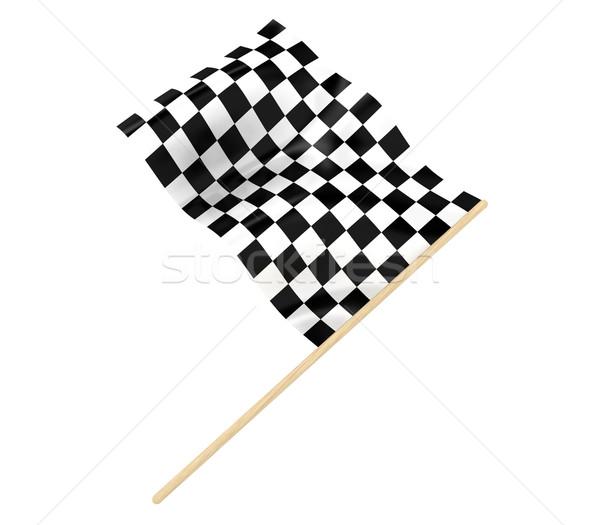 Vlag illustratie sport snelheid golf Stockfoto © FotoVika