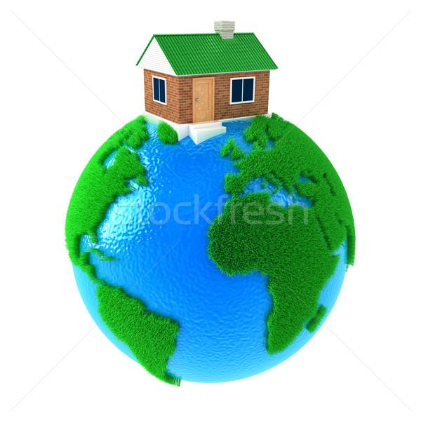 Planeet huis aarde groot permanente water Stockfoto © FotoVika