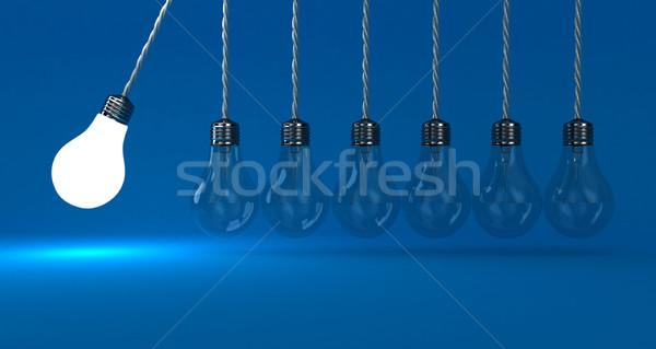 Lampade illustrazione pendolo blu luce energia Foto d'archivio © FotoVika