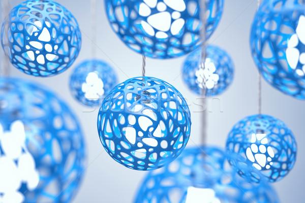 синий цвета дома свет дизайна домой Сток-фото © FotoVika