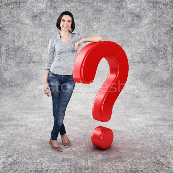 Girl with a question Stock photo © FotoVika