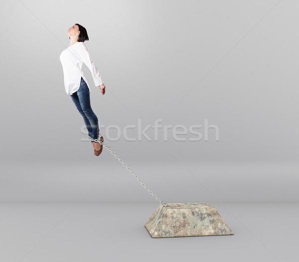 Girl with cargo Stock photo © FotoVika