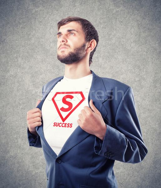 Сток-фото: бизнесмен · молодые · движения · бизнеса · человека · груди
