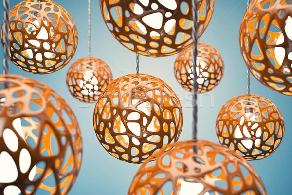 оранжевый цвета дома дизайна домой стекла Сток-фото © FotoVika