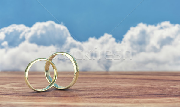 Two gold rings Stock photo © FotoVika