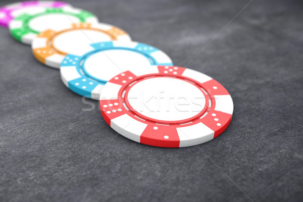 Poker chips illustrazione diverso colore tavola divertimento Foto d'archivio © FotoVika