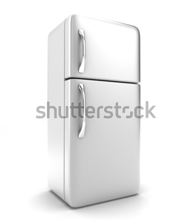 Lodówka ilustracja nowego biały żywności stali Zdjęcia stock © FotoVika