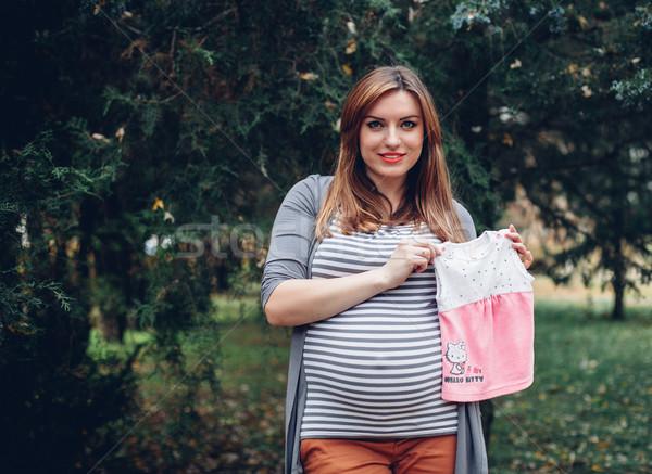 беременна девушки красивой беременная женщина большой живота Сток-фото © FotoVika