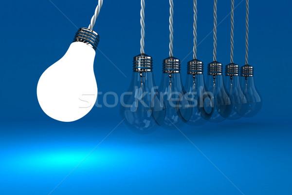 Lâmpadas ilustração pêndulo azul negócio vidro Foto stock © FotoVika