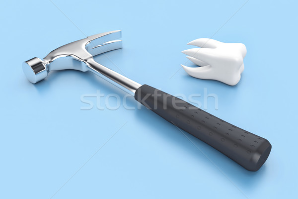 Hammer with tooth Stock photo © FotoVika