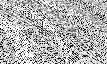 Binaire code golven oceaan teken communicatie zwarte Stockfoto © FotoVika