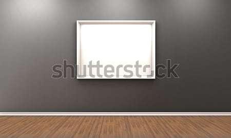 Foto illustratie kamer witte frame kantoor Stockfoto © FotoVika