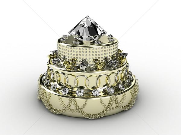 Pie from jewelry Stock photo © FotoVika