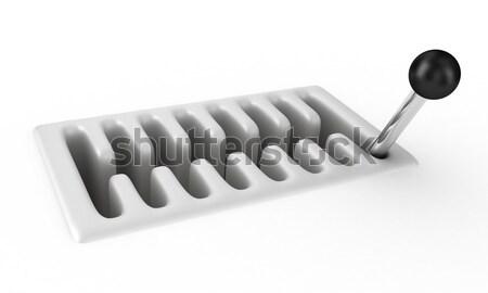 Versnellingsbak illustratie auto witte snelheid macht Stockfoto © FotoVika