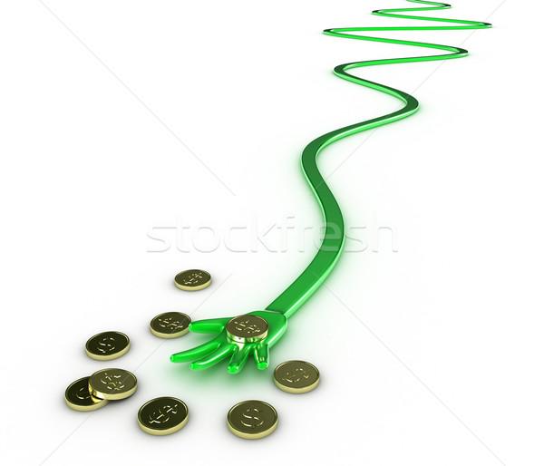 Сток-фото: стороны · деньги · иллюстрация · белый · Финансы · змеи
